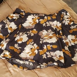 Large Floral Navy Skirt